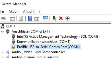 Photo of Prolific USB-to-Serial Comm Port – Error Code 10