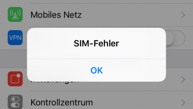 Photo of iOS Update – SIM Fehler – Ungültige SIM Karte