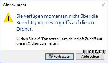 Windows Apps Ordner Zugriff