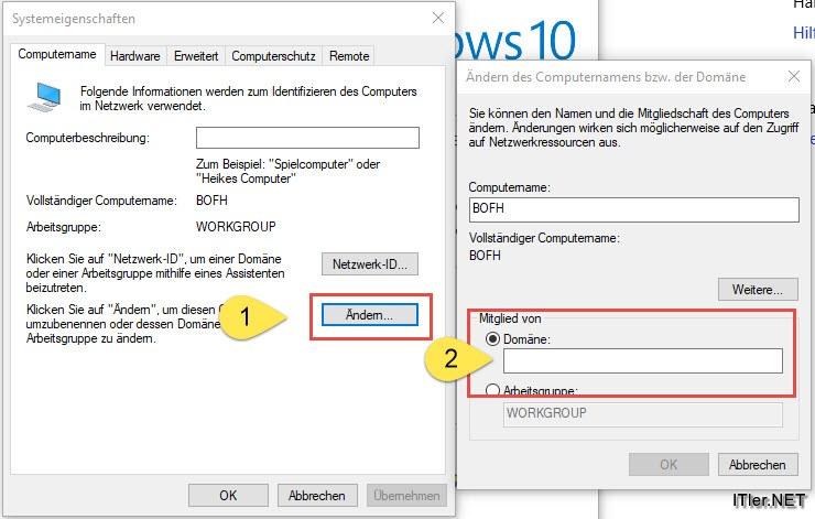 Windows 10 Domäne Beitreten Joinen Anleitung