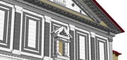 Dettaglio di Edicola e travetti del tetto (da LDD)
