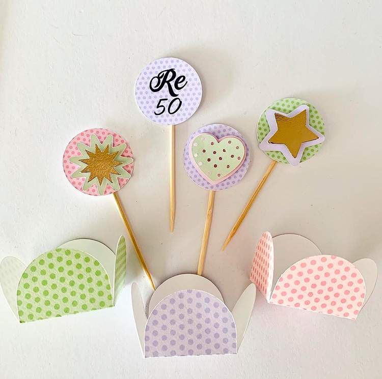 Kit Papelaria Personalizada Candy Colors Magic Box Festas It Mãe