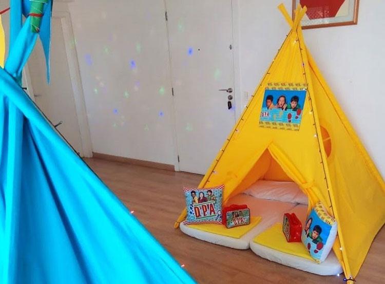 tenda detetives do prédio azul aniversário inspirado em séries pijamas party it mãe