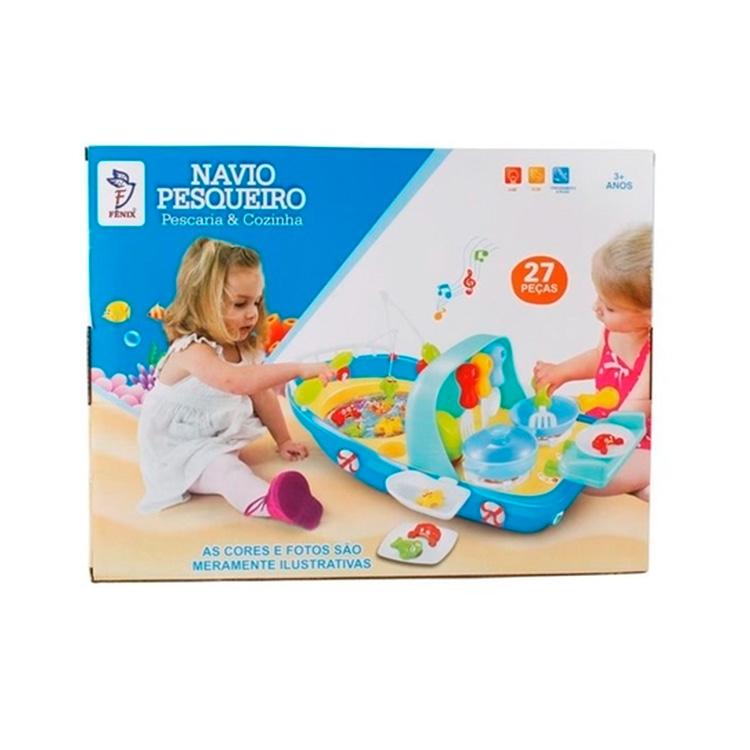 Navio Pesqueiro Goin Goin Brinquedos Mala de viagem das crianças - It Mãe