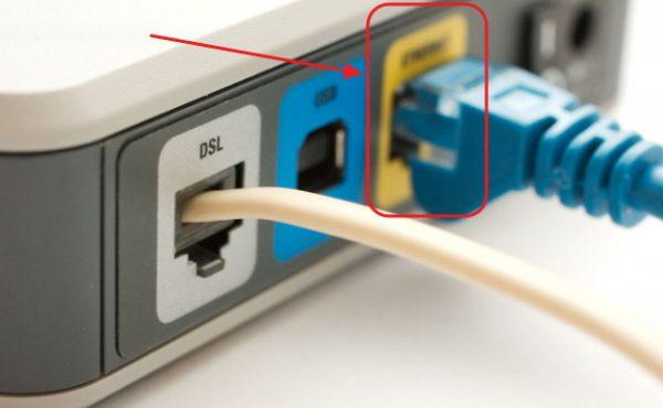 ADSL модем қосқышы панелі