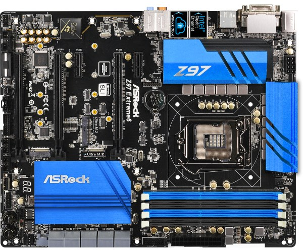 ASRock Z97 Extreme6 Motherboard - Layout