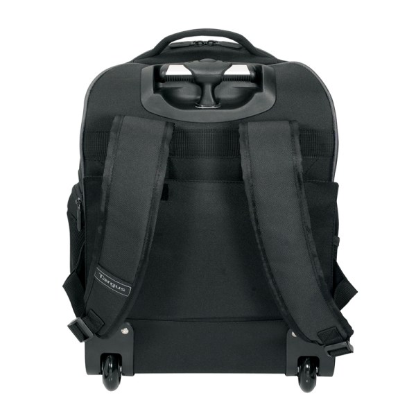 Targus TSB750AP Compact Rolling Backpack - Rear Straps