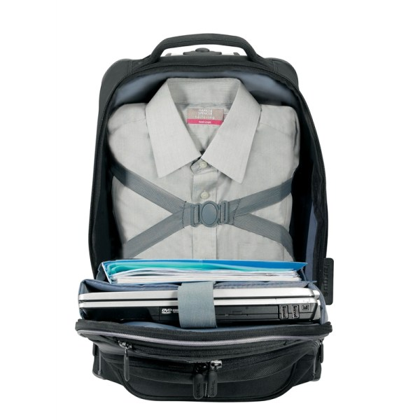 Targus TSB750AP Compact Rolling Backpack - Storage Space