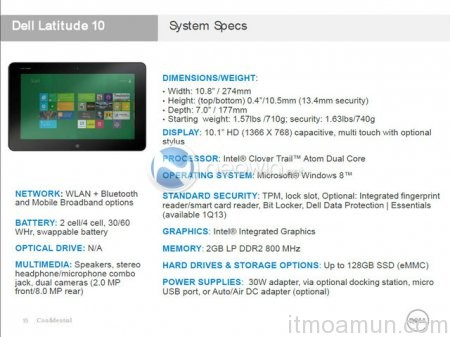 Dell Latitude 10, Dell, Dell Windows 8 Tablet, Windows 8, Tablet