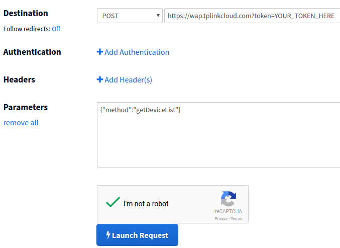 How to get the TP-Link HS100 cloud end-point URL? | IT Nerd