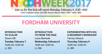 Workshops at Fordham DH Week