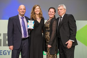Fordham IT staff at the Digital Edge 50 Awards (L to R): Shaya Phillips, Elizabeth Cornell, Katherine Egan, Frank Sirianni
