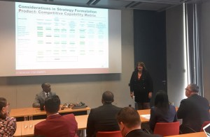Joyce Tyrrell presents at the Viessmann plant