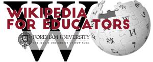 wikipedia for educators logo white