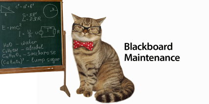 Blackboard maintenance graphic decorative