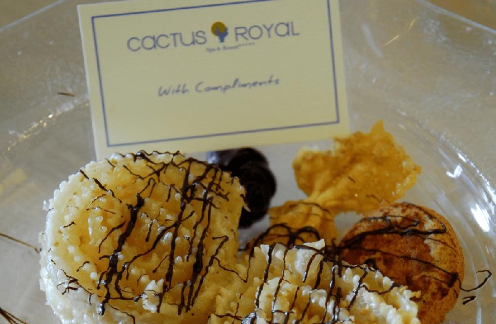 """Διάκριση στο εστιατόριο """"Ελιά"""" του ξενοδοχείου Cactus Royal"""