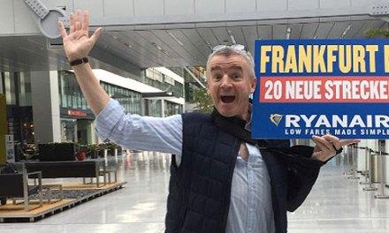 Αθήνα-Φρανκφούρτη με Ryanair κάθε μέρα από Οκτώβριο