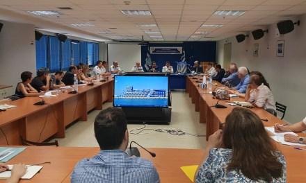 Σύσκεψη με εκπροσώπους ακτοπλοϊκών εταιρειών για το πληροφοριακό σύστημα που θα υποστηρίξει το Μεταφορικό Ισοδύναμο -Υφυπουργός  Νεκτάριος Σαντορινιός