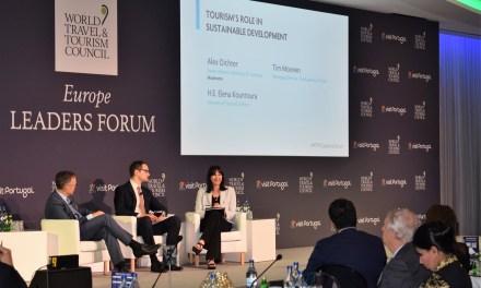 Η Υπουργός Τουρισμού Έλενα Κουντουρά, ομιλήτρια στο φόρουμ των ηγετών της ευρωπαϊκής τουριστικής βιομηχανίας του WTTC στην Πορτογαλία