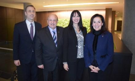 Συνάντηση της Υπουργού Τουρισμού  Έλενας Κουντουρά με τον Υπουργό Τουρισμού του Οντάριο Michael Tibollo για την προώθηση του ελληνικού