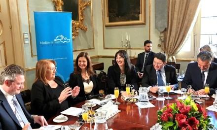 Η Υπουργός Τουρισμού, Έλενα Κουντουρά, επίτιμο μέλος του ΔΣ του Mediterranean Tourism Foundation, μετά από πρόταση της Προέδρου της Μάλτας ΑΕ Marie-Louise Coleiro Preca