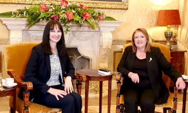 Την Υπουργό Τουρισμού, Έλενα Κουντουρά, υποδέχτηκε στο Προεδρικό Μέγαρο της Μάλτας, η Πρόεδρος, ΑΕ Marie-Louise Coleiro Preca, και συζήτησαν για την προώθηση της τουριστικής συνεργασίας στη Μεσόγειο και τα δικαιώματα των γυναικών