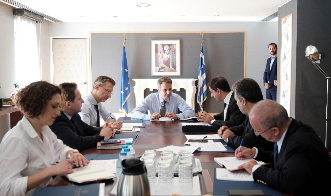 Το Υπουργείο Τουρισμού επισκέφθηκε σήμερα ο Πρωθυπουργός Κυριάκος Μητσοτάκης