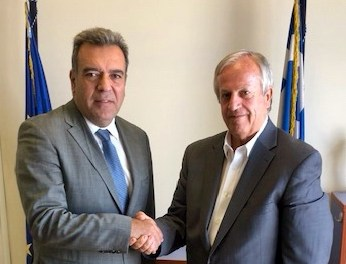 Συνάντηση του Υφυπουργού Τουρισμού κ. Μάνου Κόνσολα με τον Δήμαρχο Καλύμνου για τον καταδυτικό τουρισμό