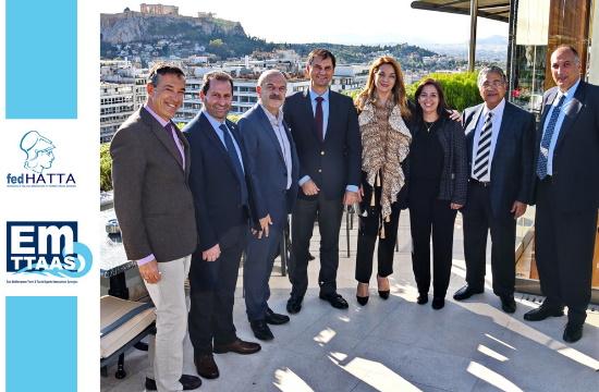 Τον δυναμικό ρόλο του φορέα EMTTAAS (East Mediterranean Travel & Tourist Agents Associations Synergies) στην τουριστική ανάπτυξη της ευρύτερης περιοχής της Νοτιοανατολικής Μεσογείου παρουσίασε η FedHATTA στην ηγεσία του Υπουργείου Τουρισμού και του ΕΟΤ