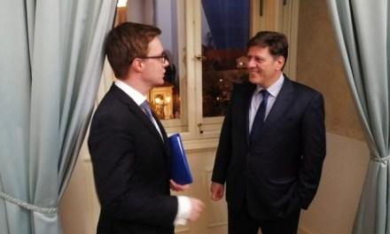 Συνάντηση Αναπληρωτή Υπουργού Εξωτερικών, Μιλτιάδη Βαρβιτσιώτη με τον Υφυπουργό Εξωτερικών για Ευρωπαϊκά Θέματα της Τσεχίας, Aleš Chmelař (Πράγα, 04.11.2019)