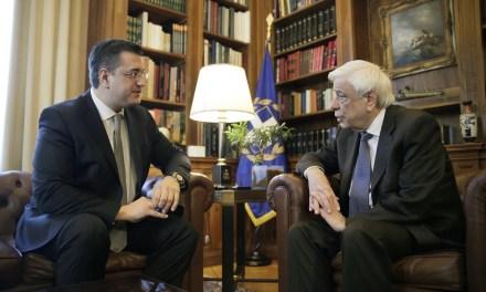 Συνάντηση του Προέδρου της Ευρωπαϊκής Επιτροπής των Περιφερειών και Περιφερειάρχη Κεντρικής Μακεδονίας Απόστολου Τζιτζικώστα με τον Πρόεδρο της Δημοκρατίας Προκόπη Παυλόπουλο