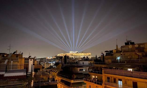 Ο Κ. Μητσοτάκης στα αποκαλυπτήρια του έργου αναβάθμισης του φωτισμού στον ιερό βράχο της Ακρόπολης (+video)