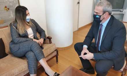 Τη νέα Υφυπουργό Τουρισμού κ. Σοφία Ζαχαράκη υποδέχτηκε σήμερα στον Ελληνικό Οργανισμό Τουρισμού ο Γενικός Γραμματέας κ. Δημήτρης Φραγκάκης.