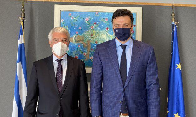 Συνάντηση Υπουργού Τουρισμού με τον Πρέσβη της Γερμανίας