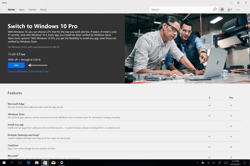 Guias IT-online: Como fazer upgrade do Windows 10 S para o Windows 10 Pro | IT - online