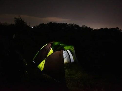 キャンプ泊 夜