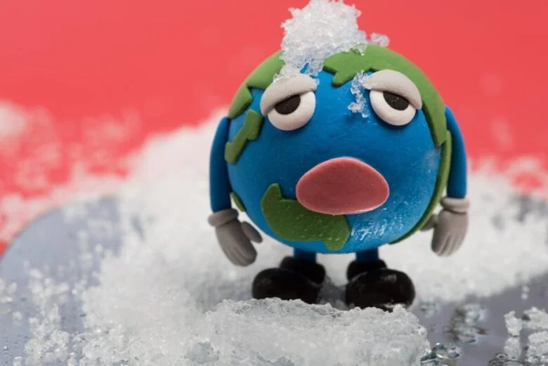 地球温暖化を表したイラスト