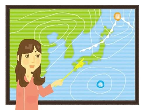お天気お姉さん天気図