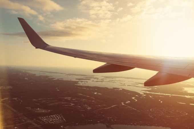 flight flying plane air travel