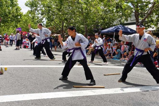 Purple belts mid stance