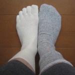 裸足好きの私が買った「冷えとり」靴下。2枚履きだからイイかも♪