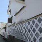 世界遺産登録間近の萩城城下町の静かな横町を歩く
