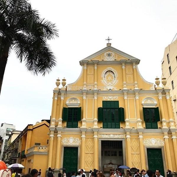 聖ドミニコ教会。黄色の壁と緑の扉がきれい。#マカオ #MACAU #instalover #instalovers #instatravel #instatraveling #stdominicschurch  #聖ドミニコ教会