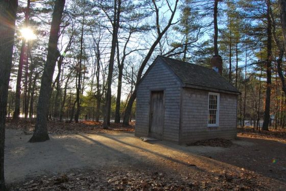 A replica of Thoreau's cabin near Walden Pond