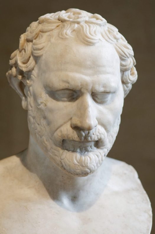 Bust of Demosthenes in the Louvre