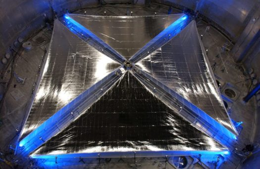ATK Space Systems' Solar Sail during testing at the Plumbrook Test Facility in Sandusky, OH