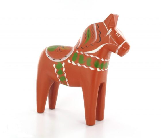 Image of a Swedish wooden Dalahäst horse