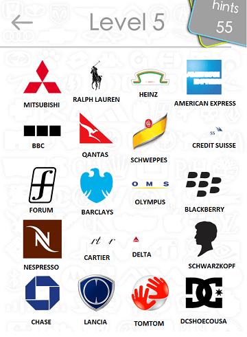 Logos Level 5 : logos, level, Logos, Answers:, Level, 2iTouchApps.net, IPhone/iPad, Resource