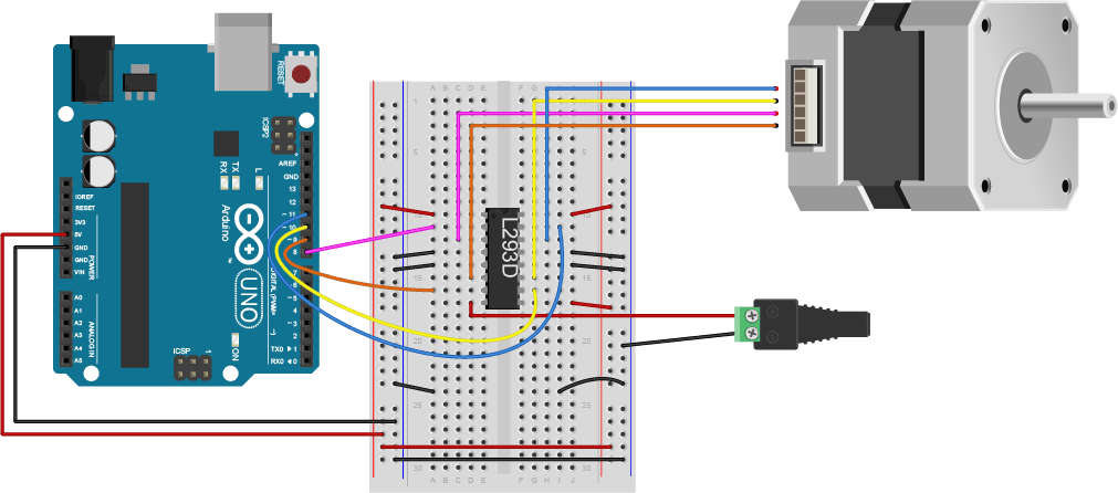 motor control center wiring diagram domestic diagrams australia controlling stepper motors – itp physical computing