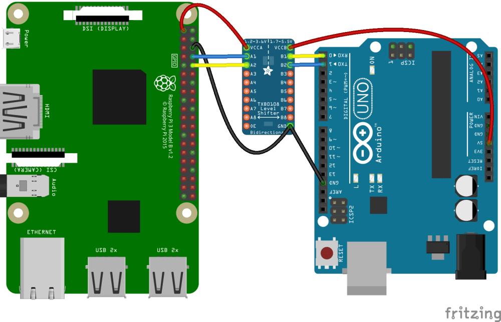 medium resolution of level shifting between an arduino uno and a raspberry pi using a txb0108